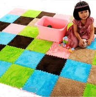 baby plush mat - Patchwork middlebury to soft wood foam floor baby velvet puzzle mats plush crawling mat x30cm