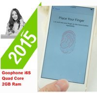 Wholesale Unlocked Fingerprint G TLE Show MTK6795 Octa Core i6S Plus Phone HD MP Camera GPS Smartphone Mobile phone