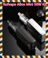 beginner electronics kit - 100 Original Rofvape ABox Mini W Starter electronic cigarett Kit Temperature Control A Box W Beginner Kit TC Ni By Pass Mode Supported
