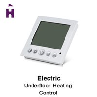 Wholesale Weekly Programmable Electric Floor Heating Thermostats with Green LCD Display Temperature Controller Room Thermostat