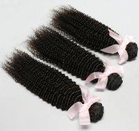Cheap Best Style Hair!Brazilian Peruvian Malaysian Indian Virgin Hair 3pcs Kinky Curly Human Hair Extensions Hair Weave 100g pcs 6A Grade