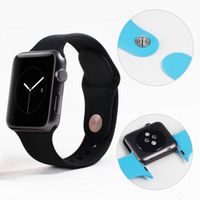 Wholesale Fashional watch strap for Apple watch mm mm colorful split silicone band for iwatch with Adapter connector