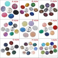 aluminum jump ring - New Summer Style Button Set Random mix Aluminum bottom multislice printing Noosa Netherlands dark button18mm DIY Personality Buttons