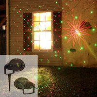 Wholesale 2015 New Arrival Waterproof Outdoor Laser Firefly Stage Lights Landscape Red Green Projector Christmas Garden Lawn Lamps Decorations