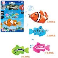 Wholesale 4 styles Kids Toys swimming fish ROBO FISH Water Activated Magical Turbot Fish electric Fish Toy Children Gift
