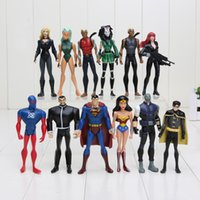 Wholesale 12pcs set DC The Avengers SuperMan Robin Wonder woman figure toy doll size in cm