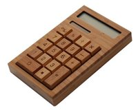 bamboo constructions - Bamboo Solar Calculator Anti static digitals Solar power cell no batteries required Fashion Full bamboo construction Z00362
