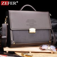 Wholesale Zefer male business bag briefcase man bag shoulder bag lock laptop bag