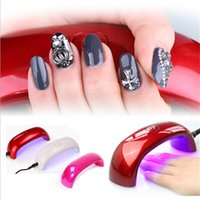 Wholesale 2015 Portable Mini LED UV Nail Lamp Nail Dryers US EU Plug USB Electric Curing Lamp Machine W Seconds Fast Dry Colors with Package