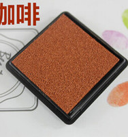 Wholesale DIY ink pad plastic stamp inkpad for scrapbooking decoaration stationery Stamp Craft Ink Pad Wood Fabric Children s Finger