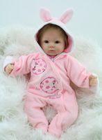 big eyed dolls - Inch Soft Silicone Reborn Baby Dolls Baby Alive Doll For Girls Handmade Vinyl Stuffed Toys Realistic NPK Brand Doll Big Eyed