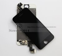 Cheap For iPhone 5S LCD Screen Display Assembly and Touch Screen Digitizer Assembly+Front Camera Complete High Quality Replacement Part