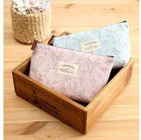 Wholesale Women New Flower Floral Pencil Pen Case Cosmetic Makeup Tool Bag Storage Pouch Purse By DHL