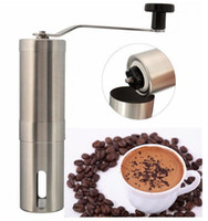 Wholesale Hot Sale Silver Stainless Steel Hand Manual Handmade Coffee Bean Grinder Mill Kitchen Grinding Tool g x20cm Home