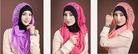 muslim lady scarf - Hot Sale PC Retail Muslim Lady Scarf Hijab Arabic Dubai Woman Scarf Inner modal cap over Beads Embroidery Chiffon scarf Colors Elegent