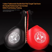 Wholesale 1 piece Taekwondo Double Kick Pad Target Tae Kwon Do Karate Kickboxing Free Combat MMA Foot Kicking Training