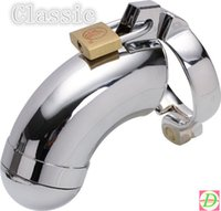 Cheap Security Protection Of Your Penis Male Chastity Device Stainless Cock Lock Prevent Masturbation penis ring vibrator penis sleeve