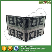 Wholesale NEW Bride Racing wallet with bride fabric JDM drift drag race gift fabric leather