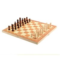 Wholesale New Arrival Quality Classic Wooden International Chess Set Board Game cm x cm Foldable Kids Fun Hot