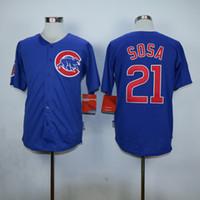 Wholesale Cubs Sammy Sosa Jersey Newest Blue Baseball Jerseys Hot Sale Baseball Wear Playoffs Sports Team Uniforms Men s Jerseys Allow Mix Order