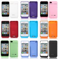 Cheap Wholesale-1900mAh Backup External Battery Charger Case Cover Power Bank for iphone 4 4G 4S #L0192482