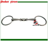 Wholesale SS ring snaffle bit broken mouth with elliptical link Horse riding equipment BT0527