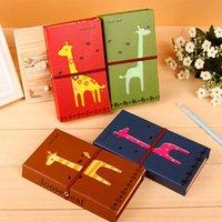 Wholesale Cute Kawaii Cartoon Giraffe Deer Notebook for Kids Child Kraft Paper Diary Journal Book with Blank Paper Gift