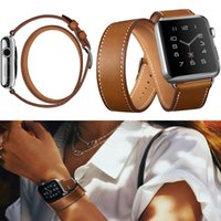 apples the band - The Extra Long Genuine Leather Band Double Tour With Bracelet Connector Leather Watchband for Apple Watch iWatch mm or mm