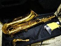 Wholesale Saxophone New Arrival Golden tenor Sax Saxophone with case HOT