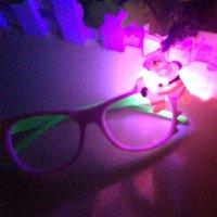 Wholesale Children Eye Wear Christmas Glasses Without Lens Christmas Led flash glasses frame Kids Girl Lovely Accessories Sunglasses Frames