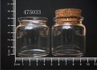Wholesale 50pcs ml x50mm glass bottle with cork and essential oil use glass vial glass jar wishing bottle