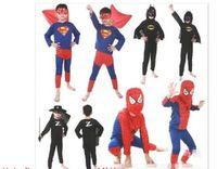 Wholesale Halloween Children s Performing clothing Children s Superman Batman suits Superhero Spider Man costume R07