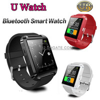 Wholesale Free DHL U8 U Watch Smart Bluetooth Sport Smartwatch Wrist Watches for iPhone S Samsung S6 S5 Note Android SmartPhone Phone Call