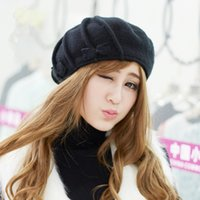 angora wool for sale - Factory Outlet Promotion New Arrival Hot Sale Autumn and Winter Black Wool Hat Fashion Soft Angora Berets for Women B070