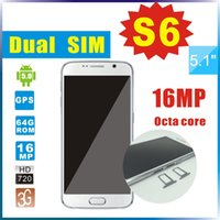 mobile - S6 Octa core MTK6592 Android phone inch Mobile phone GB RAM GB ROM Smart mobile cell phone