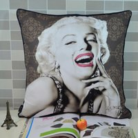Wholesale CM Retro Vintage Marilyn Monroe Pop Art Microfiber Square Throw Pillow Cover Pillowcase for Home Decorations Sofa Coffee