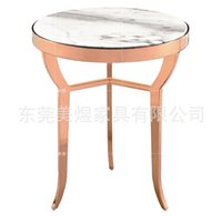 angle iron table - Mei yu is the simple marble small circular coffee table sofa of stainless steel angle ET1506 angle