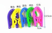 Wholesale multicolor plastic slip hanger folding hanger magic hanger portable travel travel