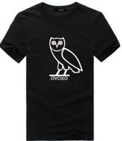 Wholesale High Quailty New Men s OVO Drake Gold Owl Ovoxo Octobers Short Sleeve T Shirt Cotton Printed Custom T Shirt