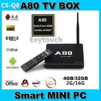 Wholesale 2015 Original CSQ8 A80 Android TV BoX Octa Core G G G G ac G GHz WiFi K K H SATA Smart TV Linux RJ45 DLNA Miracast p