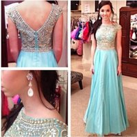 Cheap Model Pictures Long Prom Dresses 2015 Best A-Line High Neck New Arrival Prom Dresses
