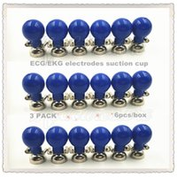Wholesale 3 PACK New Adult reusable ECG EKG electrodes suction cup Nickel Both and mm box
