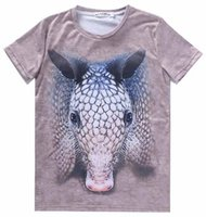 animal armadillo - w20151222 Mikeal Newest d t shirt for men women Tops cotton t shirt print cute animals Armadillo casual tshirt A103