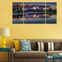 alpine hd - Original US high tech HD Print Landscape Oil Painting Wall Decor Art on Canvas No frame Clouds alpine lake PC