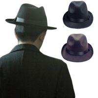 Wholesale S5Q Unisex Hip Hop Cowboy Cap Men s Vintage Felt Fedora Hats Women s Jazz Trilby AAAECG