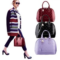 Wholesale Women Shell Pu Handbags Embossed Soft Handle Tassel Bucket Bags Faux Leather Shoulderbags Female Plain Clutch