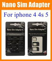 Wholesale Nano Sim Adapter Micro SIM Nano Sim for iphone s iphone dual Sim card tray holder R sim nano sim adapter micro sim adapter OTH023