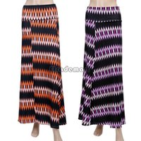 Cheap 2015 spring Maxi Skirt Full Printed Casual Skirt Slim A-Line High Waist Long Full Skirt National Wind Purple Orange 18