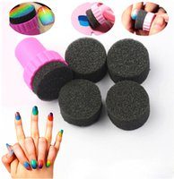 nail equipment - 2014 Hot Sale Magic Nail Art Equipment Simple DIY Change Color Sponges With Stamper Polish Stamping Manicure Nail Tool Set Free JC03048