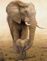 african handicraft - Handicraft x36 quot Huge Animal Oil Painting On Art Canvas African Elephant